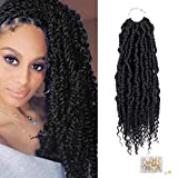 4 Packs Noir Sénégalais Printemps Twist Crochet Tresses Passion Twist Ton Extension De Cheveux Cheveux Fluffy Synthétique Tressage Extensions De Cheveux (1B #)