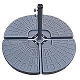 Unbekannt Jalano Schirmständer Sonnenschirm Wasser Tanks Bodenkreuz Befüllbar 60kg 4er Set
