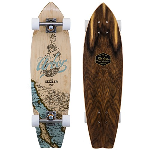 Fireball Arbor x Supply Co. Longboard Skateboards (Various Models) (Sizzler - Groundswell (31'), Complete)