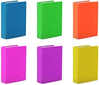 Stretchable Book Covers Jumbo Size Neon Color Assortment (6 Pack) Fits Most Hardcover Books up to 9 x 11 inches