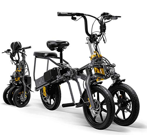 CYGGL Triciclo eléctrico para Adultos Plegable de Tres Ruedas Bicicleta de montaña...