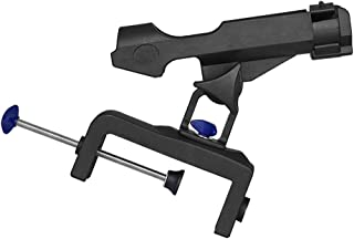 Baosity Fishing Rod Holder for Boat Ship, Adjustable 360 Degree Pole Rack Support with Large Clamp Opening Max 4-3/4 inch, Black