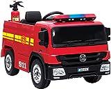 crooza Feuerwehrauto Feuerwehr Kinderauto SX1818 Kinder Elektrofahrzeug mit Fernbedienung