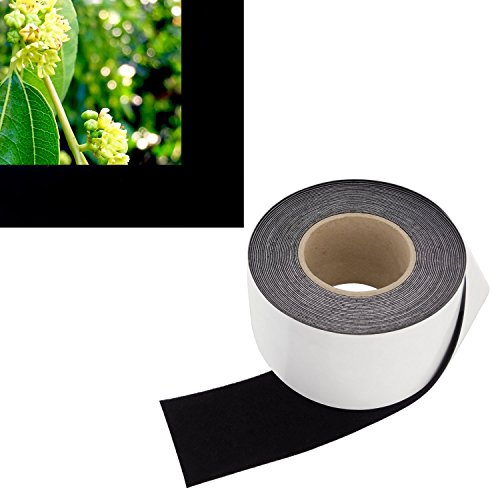 3 in x 60 ft - Vibrancy Enhancing Projector Felt Tape Border - by ConClarity – Deepest Black Ultra High Contrast Felt Tape for DIY Projector Screen Borders Absorbs Light, Brightens Image & Stops Bleed