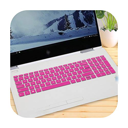 15 15.6 Inch Laptop Keyboard Cover for Hp Spectre X360 15-Inch (2018) 2-in-1 Laptop 15-Ch011Nr 15-Ch011Dx-Rose-