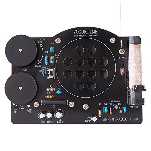 AM FM Radio Kit Soldering Project Kit for Learning Practicing Teaching Electronics by VOGURTIME, New Version