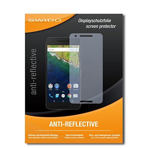 SWIDO Bildschirmschutz für Huawei Nexus 6P [4 Stück] Anti-Reflex MATT Entspiegelnd, Hoher Festigkeitgrad, Schutz vor Kratzer/Glasfolie, Schutzfolie, Bildschirmschutzfolie, Panzerglas Folie