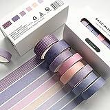 PMSMT 8 unids/Set Retro básico Color sólido decoración Washi Tape Set DIY Scrapbook Pegatina Lindo Kawaii Suministros Escolares Cinta Adhesiva de Suministro