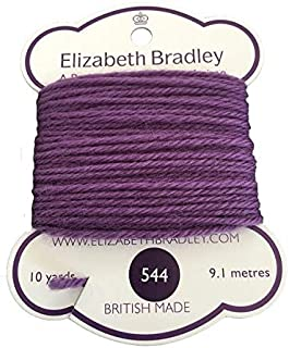 Elizabeth Bradley Tapestry Wool Color 544, Needlepoint Thread, 100% Wool Yarn, British Made, 4 ply, Needlework (10 Yard Card)