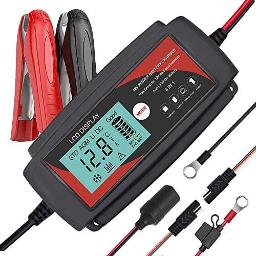 Monland Enchufe el Cargador de BateríA del Banco del Poder de Emergencia 12V del Arrancador con Pantalla LCD BateríA de Coche Buster de Refuerzo Enchufe de la EU