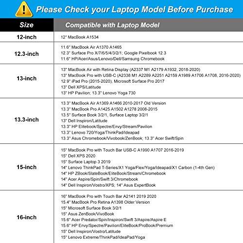MOSISO Laptop Sleeve Kompatibel mit 13-13,3 Zoll MacBook Pro, MacBook Air, Notebook Computer, Wasserabweisend Neopren Tasche mit Klein Fall, Schwarz