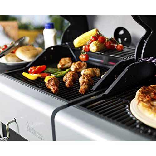 Outback Dual Fuel 2-Burner Gas and Charcoal Trolley BBQ with Multi Cook Plate System