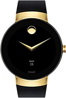 Movado Connect Digital Smart Module Yellow Gold Smartwatch, Gold/Black Strap (Model 3660014)