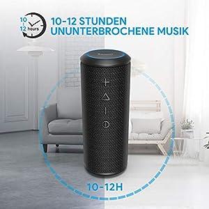 Wireless Bluetooth Lautsprecher Subbass Leistungsstarker 24 Watt Wireless 360° Sound Bluetooth Speakers V4.2 mit Wasserfest Stoßfest Mikrofon und Reinem Bass Zamkol