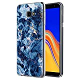 Eouine Pnakqil Samsung Galaxy J4 Plus Case, Transparent Clear with Stylish Patterned Ultra Slim Protective Shockproof Soft Gel TPU Silicone Back Cover Skin Cases for Samsung J4Plus, Green Blue Marble