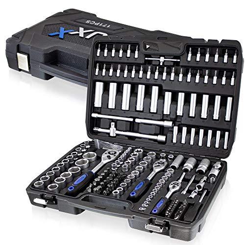 BITUXX® Ratschenschlüssel Werkzeugkoffer 171-teilig Werkzeug Knarrenkasten Ratschen Knarren Schlüssel