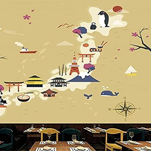 MHSHM Carta Da Parati 3D Personalizzata Cartone Animato Astratto Costumi Giapponesi Grana Floreale Classica Murales Tv Muro Per Soggiorno Divano Sfondo Decor-(W)140cmx(H)100cm
