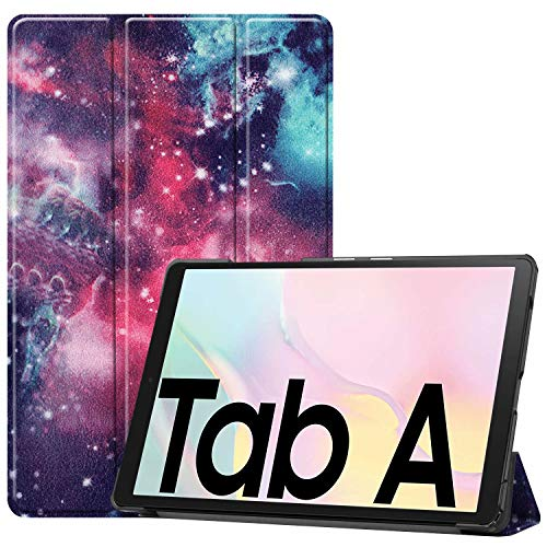 HoYiXi Custodia per Samsung Galaxy Tab A7 10.4 Pollici 2020 Ultra Sottile Case in pelle Cover con Supporto Funzione Custodia di Tablet per Samsung Galaxy Tab A7 2020 T500/T505 - galassia