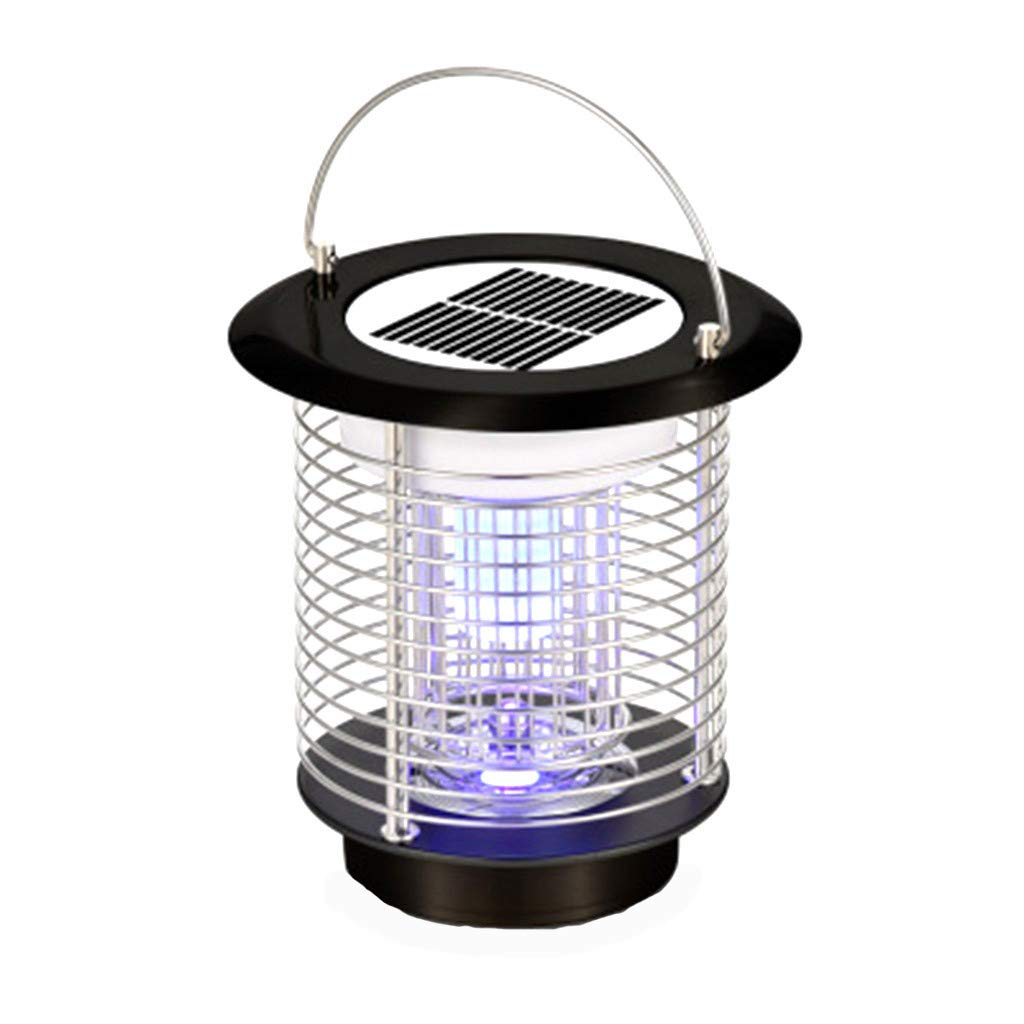 Naiflowers Wireless Solar Power Mosquito Light, Zapper Bug Killer Killing Lamp Indoor Outdoor USB Electronic Led Best Stinger Mosquitoes Moth Fly for Backyard Garden Patio Camping,Fishing or Hik