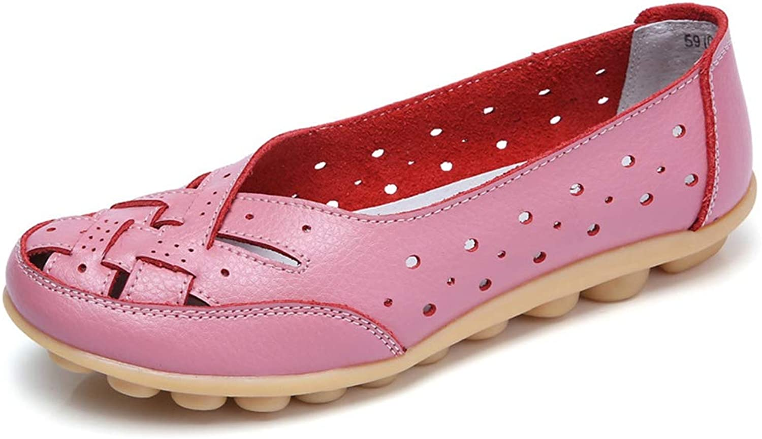 T-JULY Flats for Women Comrfort Genuine Leather Flat shoes Woman Slipony Loafers Ballet shoes Female Moccasins Plus Size