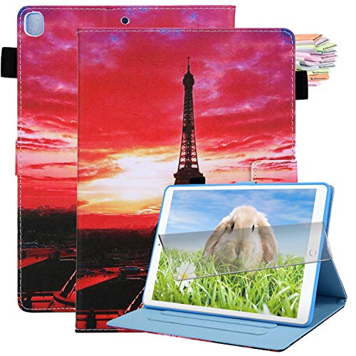 Billionn iPad 10.2 Case 2020 iPad 8th Generation Case / 2019 iPad 7th Generation Case, with Pencil Holder, Auto Sleep/Wake, Screen Protector, Iron Tower