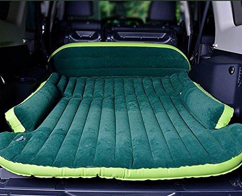 YL Suv Universal Car Bett im Bett Offroad Stra?enfahrzeuge Durch Belüftete Beflockung Aufblasbare Matratze Auto Schock Bett,Grün