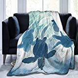 July Ocean Cute Sea Turtle Print Ultra-Soft Fuzzy Light Weight Cozy Warm Fluffy Plush Blanket Microfiber For Bed Couch Chair Sala de Estar