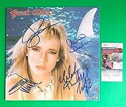 Great White Complete Original Band X5 Autographed Signed Memorabilia Once Bitten Twice Shy Album JSA COA