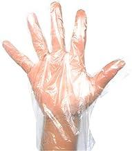 Navisha 200 Pcs(100 Pair) Disposable Transparent Clear Plastic Gloves