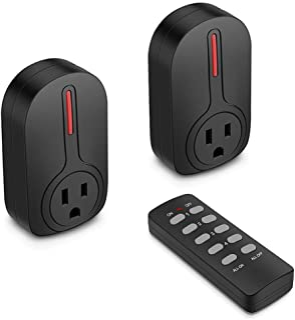 BESTTEN Wireless Remote Control Outlet Switch Set (2...