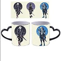 鬼滅の刃 Kimetsu No Yaiba カップ,胡蝶 しのぶマグカップ柄付きお茶カップ 蓋 スプーンコーヒーマグ S Color-changing