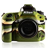 STSEETOP Nikon D750 Case,Professional Silicone Rubber Camera Case Cover Detachable Antiscratch Shockproof Full Body Protective case for Nikon D750 (Army Green)