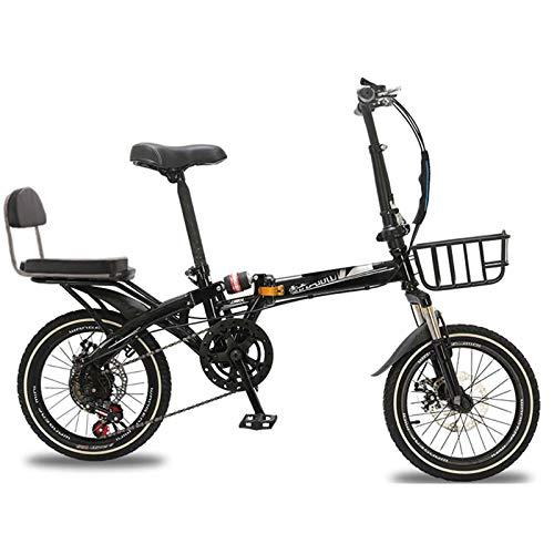Bove Resistente Y Ligero 16 Inch Folding Bicicleta Plegable Bicicleta Montaña Velocidad...