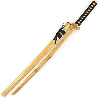Katana bokken Katana Japonesa Entrenamiento de esgrima de Kendo Iaido,Accesorios para Juegos de rol,Espada de Madera samur...