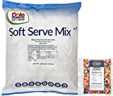 Dole Soft Serve Mix - Mango, Lactose-Free Soft Serve Ice Cream Mix, 4.50 Pound Bag - with By The Cup Rainbow Sprinkles