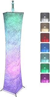 TTLIFE Lámpara de pie LED 60 '' Lámpara de pie moderna que cambia de color Luces de ambiente romántico con control remoto para uso en dormitorio, sala de estar, jardín, oficina y fiestas