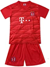 FC Bayern Munich Dressed in A T-Shirt for Kids Short Sleeve in Soccer Suit Jersey Set School Soccer Training for Children,Red,28155~165cm