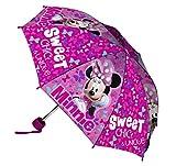 Disney Minnie Ombrello Pieghevole, Bambina, Multicolore