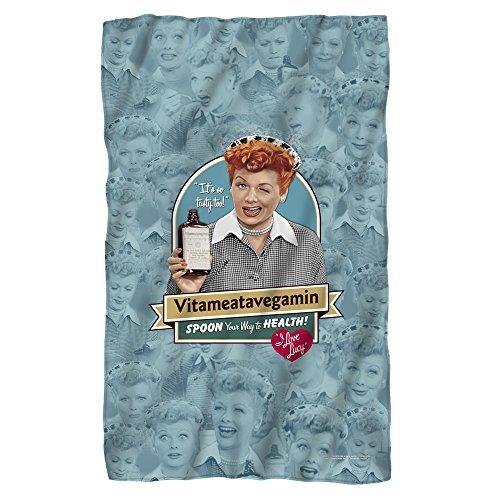 I Love Lucy Vitameatavegamin Fleece-Überwurfdecke