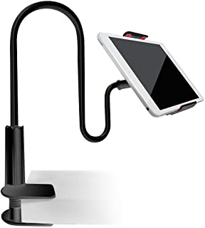Tablet Cellphone Stand Holder,Gooseneck Lazy Bracket for iPhone and iPad - Black