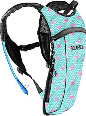 Sojourner Rave Hydration Pack Backpack - 2L Water Bladder Included for Festivals, Raves, Hiking, Biking, Climbing, Running and More (2-Pocket)