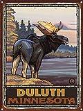 "Duluth Minnesota Rustic Metal Art Print by Paul A. Lanquist (9"" x 12"")"
