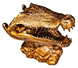 WQQLQX Statue Tier-Skull-Skulptur, Krokodil-Schädel Handwerk Modell Statue Horror Krokodilkopf Kreative Bronze Kunstwerk Kulturelle Relikte Kollektion Figuren Skulpturen