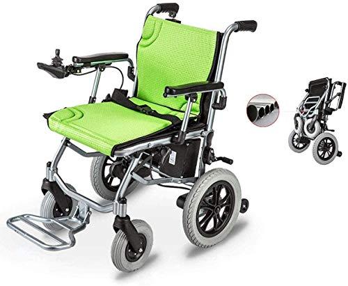 Elektrorollstuhl Faltbar Leicht, 360 ° Joystick Lithiumbatterie Elektro Mobilitätshilfe Elektrischer Rollstuhl, Tragbare Ältere Behinderte Hilfe Auto