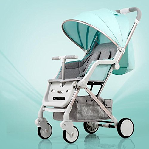Stroller Can Sit Horizontal Mini Paraguas Portable Folding 4 Wheel Shock Cart Estaciones del recién nacido Universal Travel Shade Opcional 5 colores