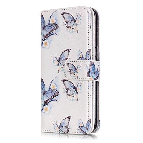 HUDDU Compatible for Samsung Galaxy S7 Edge Hülle Wallet Case Neun Kartenfächer Schutzhülle Doppelt Cover Tasche Handyhülle Stand Ledertasche Etui Lederhülle Samsung Galaxy S7 Edge -#1
