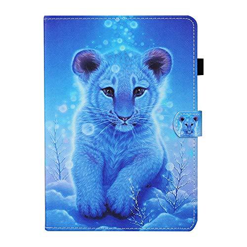 JIan Ying Schutzhülle für Samsung Galaxy Tab A7 10.4 (2020) SM-T500 SM-T505 Mode Leicht Schutzhülle Little Tiger