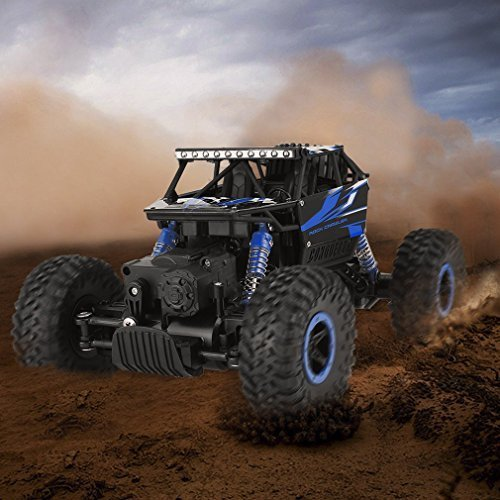 RC Car, YKS 2.4Ghz 1:18 4WD High Speed Off-Road Vehicle, Electric Remote Control Truck, RC Rock Crawler, Monster Hobby Truggy Toys