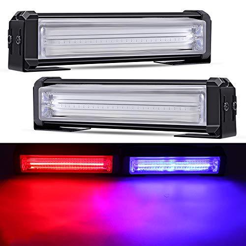 Mesllin coche Vechicle emergencia estroboscópico flash barras de luz de advertencia 6 pulgadas12V 40w / par LED luces intermitentes lámpara para camión 4X4 SUV ATV UTV rojo azul