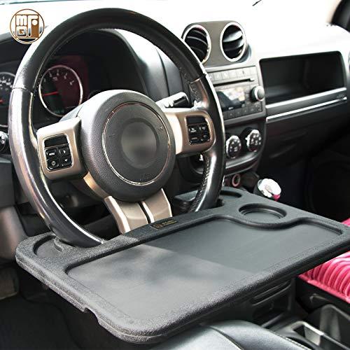 McGuffey Steering Wheel Tray, Steering Wheel Desk Fits Most Vehicles Steering Wheels Auto, Car Tray Working on Cars Black Pack of 1